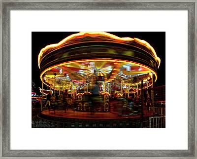 Merry-go-round Framed Print
