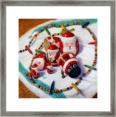 Framed Print featuring the painting Merry-go-round by Donelli  DiMaria