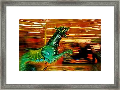 Merry-go-round Dragon Framed Print