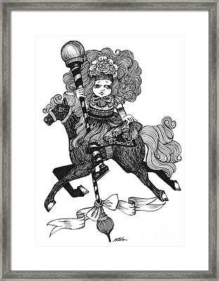 Merry-go-round Girl Framed Print