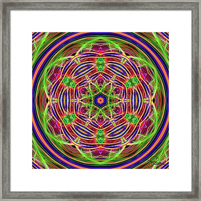 Merry-go-round Framed Print by Ludwig Keck