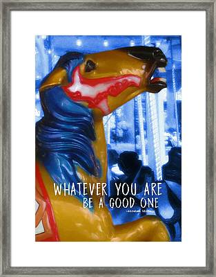 Merry Go Round Quote Framed Print by JAMART Photography