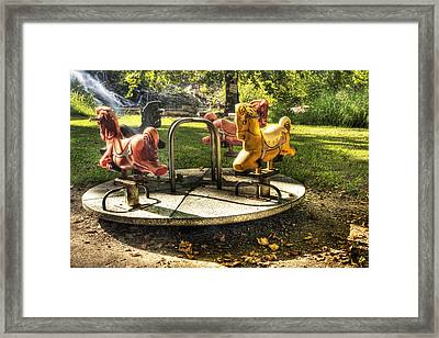 Framed Print featuring the photograph Merry-go-round by Tamyra Ayles