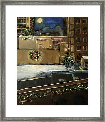 Merry Rooftops Framed Print by Dyanne Parker