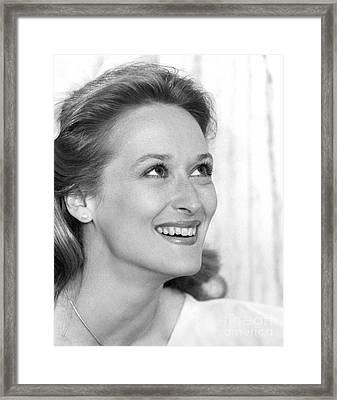 Meryl Streep (b.1949) Framed Print by Granger