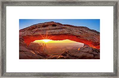 Mesa Arch At Dawn Framed Print by Andrew Soundarajan