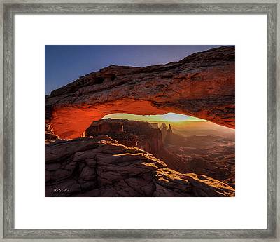 Mesa Arch At Sunrise 1, Canyonlands National Park, Utah Framed Print