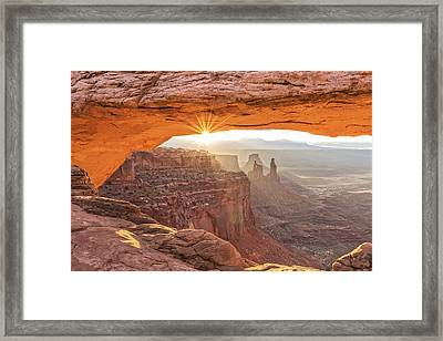 Mesa Arch At Sunrise #1 Framed Print