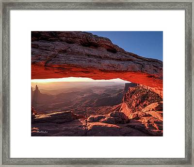 Mesa Arch At Sunrise 2, Canyonlands National Park, Utah Framed Print