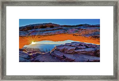 Mesa Arch At Sunrise Framed Print