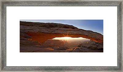 Mesa Arch Panorama Framed Print by Andrew Soundarajan