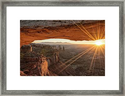 Mesa Arch Sunrise 4 - Canyonlands National Park - Moab Utah Framed Print