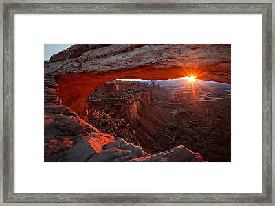 Mesa Arch Sunrise Framed Print by Barbara Read