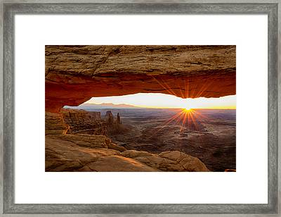 Mesa Arch Sunrise - Canyonlands National Park - Moab Utah Framed Print
