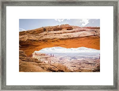 Mesa Arch Sunrise Framed Print by JR Photography