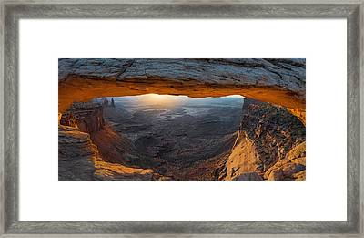 Mesa Arch - Ultra Wide Perspective Framed Print by Thomas Schoeller