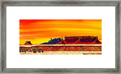 Mesa At Rough Rock Framed Print by Clark Sheppard