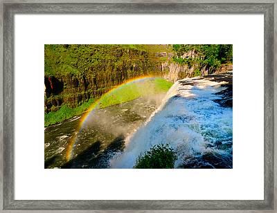 Mesa Falls Rainbow Framed Print by Greg Norrell