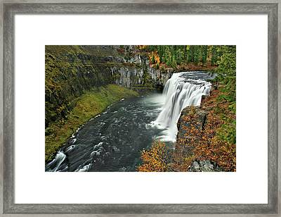 Framed Print featuring the photograph Mesa Falls by Wesley Aston