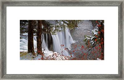 Mesa Falls Winter Framed Print by Leland D Howard