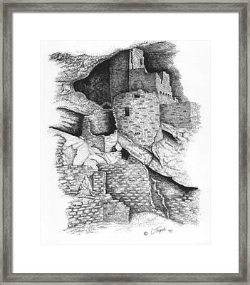 Mesa Verde Framed Print by Lawrence Tripoli