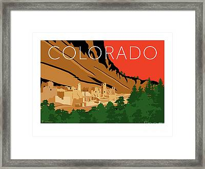 Mesa Verde Orange Framed Print