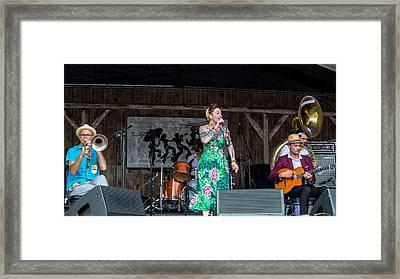 Meschiya Lake At The 2014 New Orleans Jazz Fest Framed Print
