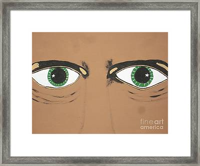 Framed Print featuring the painting Mesmerized Eyes by Jeffrey Koss