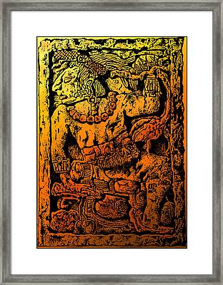 Mesoamerican  Mayan Figure Eight Century Mexico Framed Print by Larry Butterworth