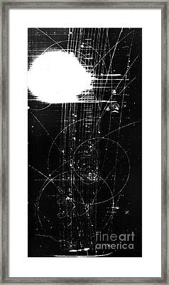 Mesons, Bubble Chamber Event Framed Print by Science Source