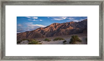 Mesquite Dunes And Panamint Range Death Valley Framed Print