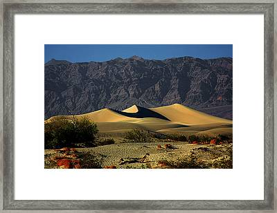 Mesquite Flat Dunes - Death Valley California Framed Print by Christine Till