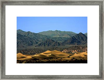Mesquite Flat Sand Dunes - Death Valley National Park Ca Usa Framed Print