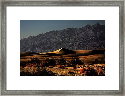 Mesquite Flat Sand Dunes Death Valley - Spectacularly Abstract Framed Print