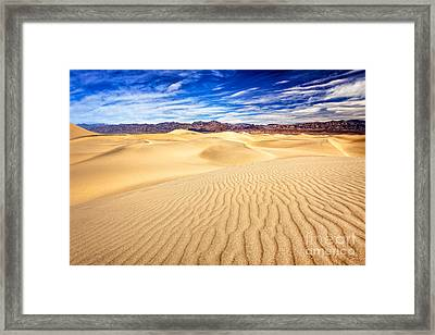 Mesquite Flat Sand Dunes In Death Valley Framed Print