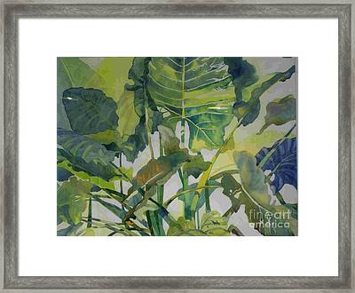 Mess Of Greens Framed Print