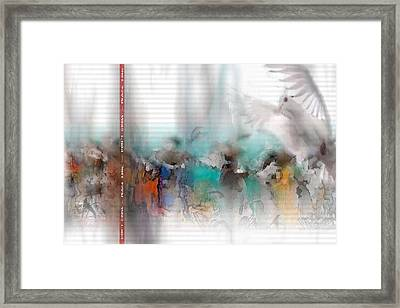 Message Framed Print by Freddy Kirsheh