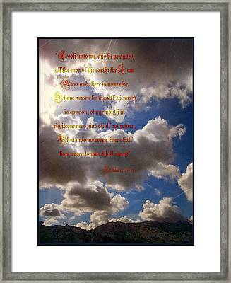 Message From God Framed Print by Glenn McCarthy Art and Photography