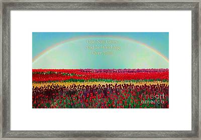 Message From The Other Side With A Bit Of Christmas Color Cheer Framed Print