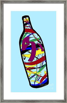 Message In A Bottle  60 Inch Max  No 16 9 00001bc 34pe742pnh-60 1e Theodore J Huckins 2015 Framed Print by Theodore J Huckins