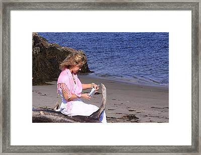 Message In A Bottle Framed Print by Tom Johnson