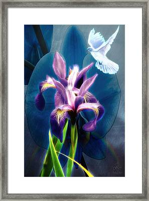 Framed Print featuring the digital art Message Of Peace by Pennie McCracken