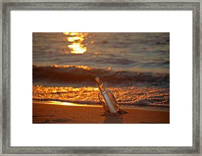 Message Waiting Framed Print by Maria Dryfhout