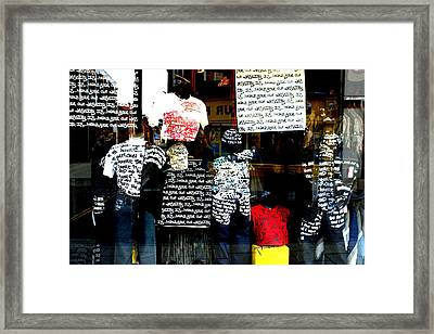 Messed Up Fashion Framed Print by Jez C Self