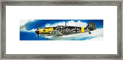 Messerschmitt Fighter Framed Print by Wilf Hardy