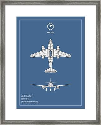 Messerschmitt Me 262 Framed Print by Mark Rogan