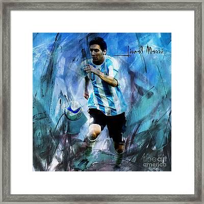 Messi 98iu Framed Print