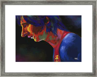 Messi Framed Print by Carvil