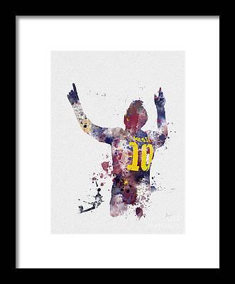 Messi Framed Prints