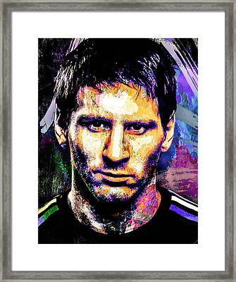 Messi Framed Print by Svelby Art
